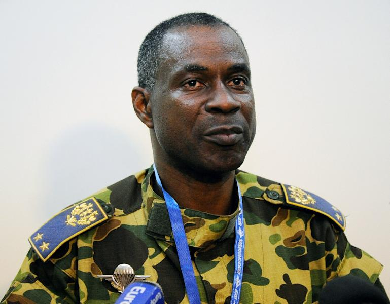 General Gilbert Diendere, a one-time powerful aide to deposed Burkina Faso president Blaise Compaore, was appointed head of a new ruling authority set up on September 17, 2015 (AFP Photo/Sia Kambou)