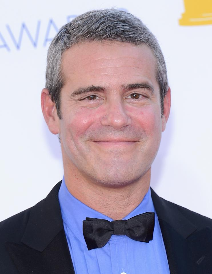 LOS ANGELES, CA - SEPTEMBER 23:  TV personality Andy Cohen arrives at the 64th Annual Primetime Emmy Awards at Nokia Theatre L.A. Live on September 23, 2012 in Los Angeles, California.  (Photo by Kevork Djansezian/Getty Images)