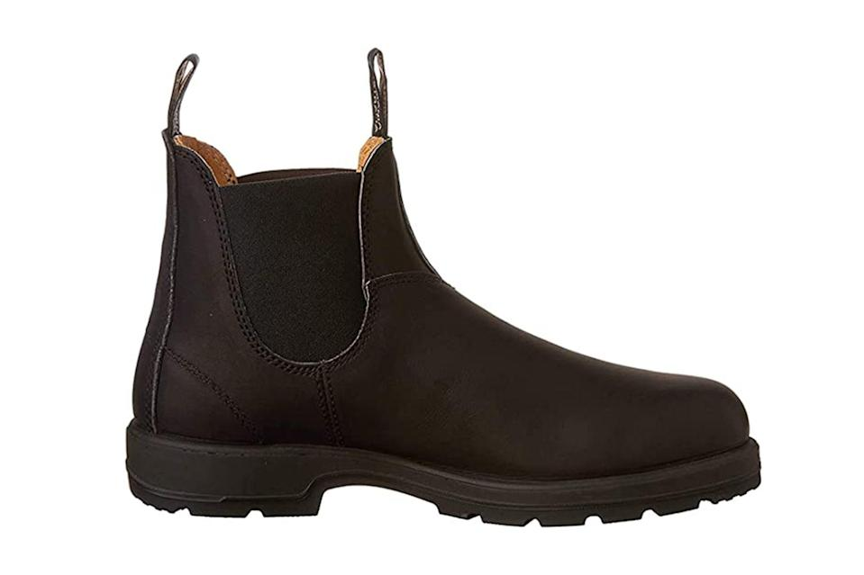"$160, Amazon. <a href=""https://www.amazon.com/Blundstone-Unisex-Pull-Boot-Black/dp/B0029F27XW/ref=sr_1_2?dchild=1&keywords=blundstone&qid=1599573738&sr=8-2&th=1&psc=1"" rel=""nofollow noopener"" target=""_blank"" data-ylk=""slk:Get it now!"" class=""link rapid-noclick-resp"">Get it now!</a>"