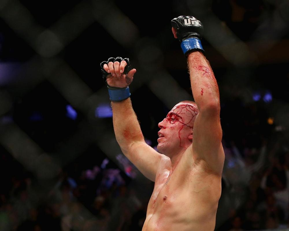 St-Pierre returned after four years out of the UFC (Getty)