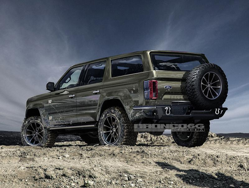 2020 Ford Bronco Four Door Rendering Is Perfect