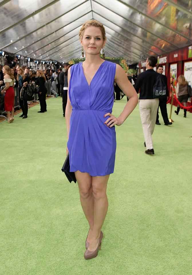 """<a href=""""http://movies.yahoo.com/movie/contributor/1800552744"""">Jennifer Morrison</a> at the Los Angeles premiere of <a href=""""http://movies.yahoo.com/movie/1810188975/info"""">The Muppets</a> on November 12, 2011."""