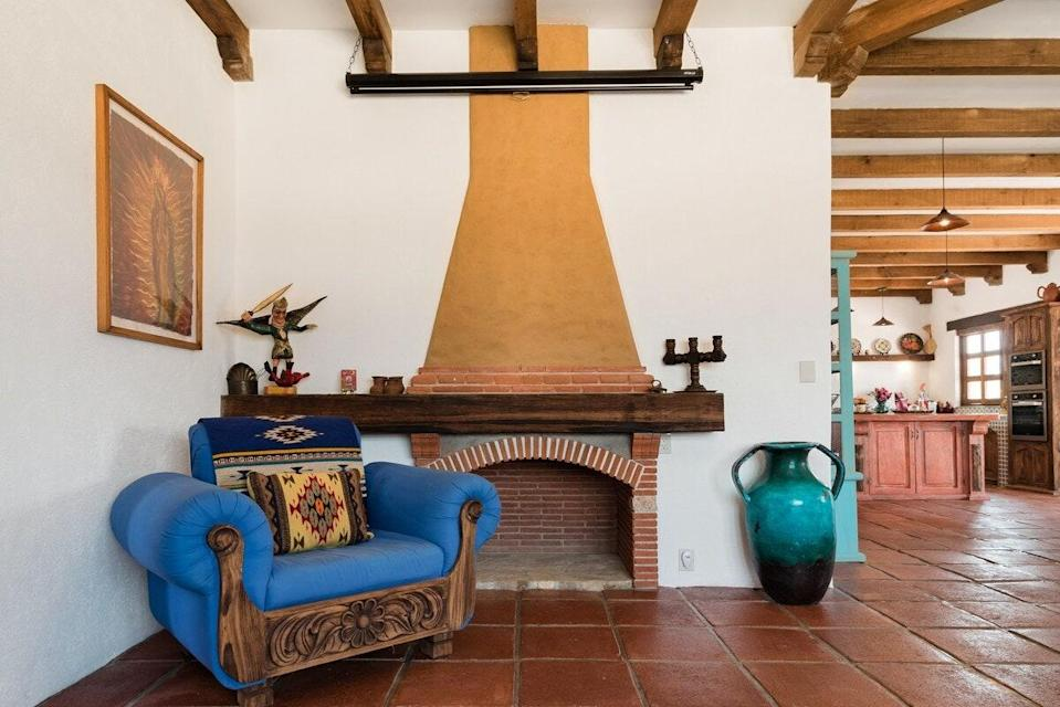 "<p>Located 30 minutes outside of Oaxaca, this three-bedroom villa gives you the space to spread out while keeping you close to the action, as it's smack in the middle between the main city and many of the <a href=""https://www.cntraveler.com/story/inside-oaxacas-female-led-craft-revolution?mbid=synd_yahoo_rss"" rel=""nofollow noopener"" target=""_blank"" data-ylk=""slk:nearby artisan collectives"" class=""link rapid-noclick-resp"">nearby artisan collectives</a>, like the <a href=""https://www.facebook.com/VidaNuevaWomensCooperative/"" rel=""nofollow noopener"" target=""_blank"" data-ylk=""slk:Vida Nueva Weaving Cooperative"" class=""link rapid-noclick-resp"">Vida Nueva Weaving Cooperative</a>. The home is also filled with textiles, art, tiles, religious works, and furniture from local and other Mexican craftspeople. We'd stay just for a look at the interior, though the shaded hammocks by the private pool offer their own draw. </p> <p><strong>Book now:</strong> <a href=""https://airbnb.pvxt.net/6rRvN"" rel=""nofollow noopener"" target=""_blank"" data-ylk=""slk:From $164 per night, airbnb.com"" class=""link rapid-noclick-resp"">From $164 per night, airbnb.com</a></p>"
