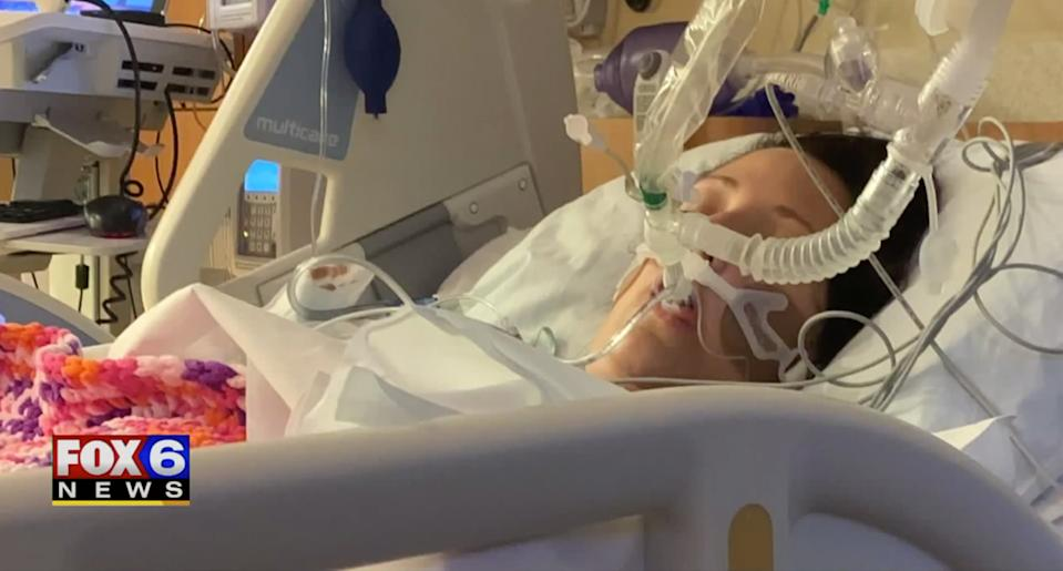 Kate Krzysik was hospitalized and put in a medically induced coma after vaping for just six weeks. (Photo: WITI Fox6 News)