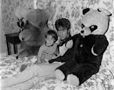 <p>John Lennon hangs out with his son Julian in their Weybridge, England, home in 1968.</p>