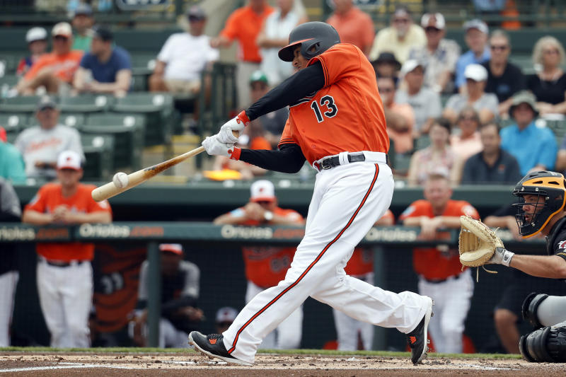 Baltimore's Manny Machado is having a great spring at the plate. (AP)