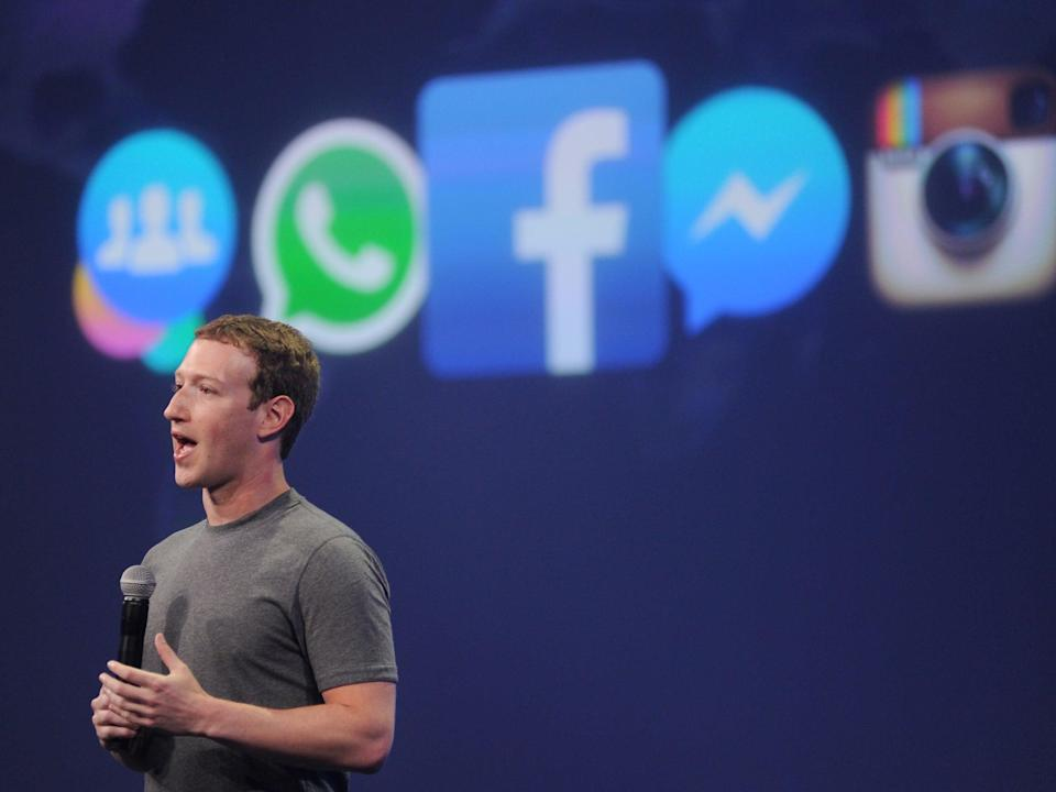 Facebook CEO Mark Zuckerberg speaks at the F8 summit in San Francisco, California, on March 25, 2015. Zuckerberg introduced a new messenger platform at the event (Josh Edelson/AFP/Getty Images)