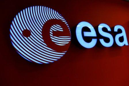 FILE PHOTO: A logo of the European Space Agency (ESA) is pictured at the headquarters in Darmstadt, Germany, September 30, 2016. REUTERS/Ralph Orlowski/File Photo