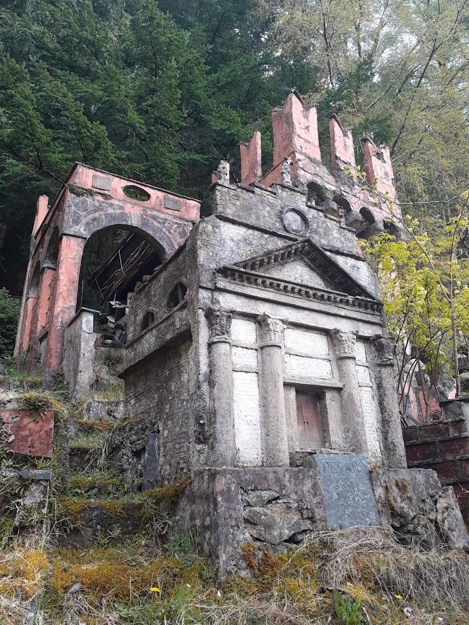 Ruined temples are concealed in the undergrowth