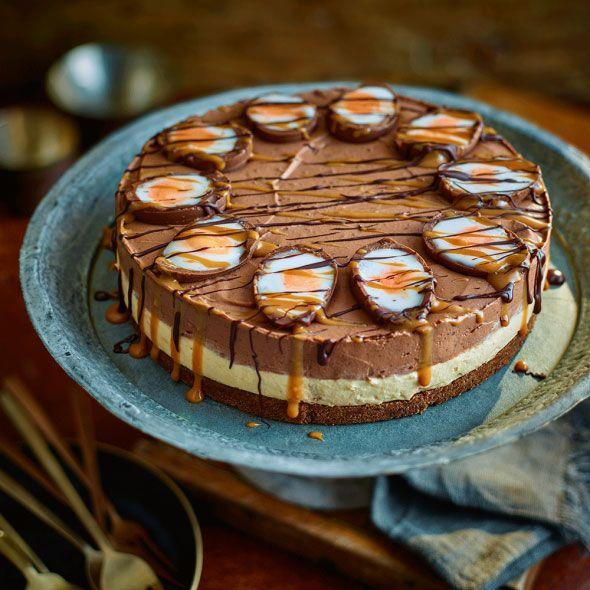 """<p>This all-out Easter pud makes no apologies for being decadent!</p><p><strong>Recipe: <a href=""""https://www.goodhousekeeping.com/uk/food/recipes/creme-egg-cheesecake"""" rel=""""nofollow noopener"""" target=""""_blank"""" data-ylk=""""slk:Creme egg cheesecake"""" class=""""link rapid-noclick-resp"""">Creme egg cheesecake</a></strong></p>"""
