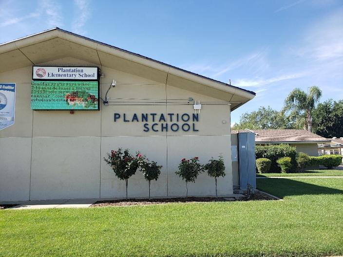 """Bakersfield's Plantation Elementary School opened in 1962. <span class=""""copyright"""">(Christopher Knight / Los Angeles Times)</span>"""