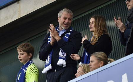 "Britain Football Soccer - Chelsea v Sunderland - Premier League - Stamford Bridge - 21/5/17 Chelsea owner Roman Abramovich applauds fans after winning the Premier League Reuters / Hannah McKay Livepic EDITORIAL USE ONLY. No use with unauthorized audio, video, data, fixture lists, club/league logos or ""live"" services. Online in-match use limited to 45 images, no video emulation. No use in betting, games or single club/league/player publications. Please contact your account representative for further details."