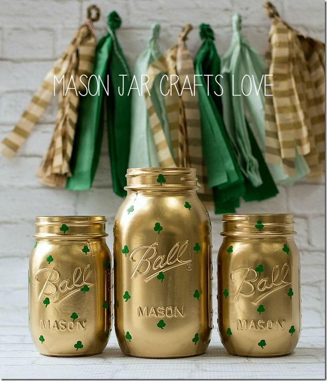 "<p>Whether you want to drink green beer from them or keep them as decorations, these stylish Mason jars will gleam like a pot o' gold.</p><p><strong>Get the tutorial at <a href=""https://masonjarcraftslove.com/shamrock-mason-jars-2/"" rel=""nofollow noopener"" target=""_blank"" data-ylk=""slk:Mason Jar Crafts Love"" class=""link rapid-noclick-resp"">Mason Jar Crafts Love</a>.</strong></p><p><a class=""link rapid-noclick-resp"" href=""https://www.amazon.com/Ball-Jar-Mason-Jars-Case/dp/B00B80TJWQ/?tag=syn-yahoo-20&ascsubtag=%5Bartid%7C2164.g.35012898%5Bsrc%7Cyahoo-us"" rel=""nofollow noopener"" target=""_blank"" data-ylk=""slk:SHOP PINT SIZE MASON JARS"">SHOP PINT SIZE MASON JARS</a><br></p>"