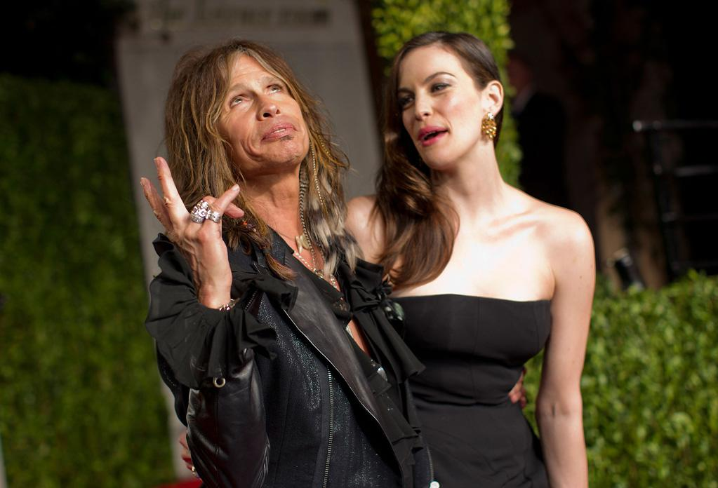 """Also spotted at the Vanity Fair party ... new """"American Idol"""" judge Steven Tyler, who posed for pics with his daughter Liv upon arriving at the celebration."""
