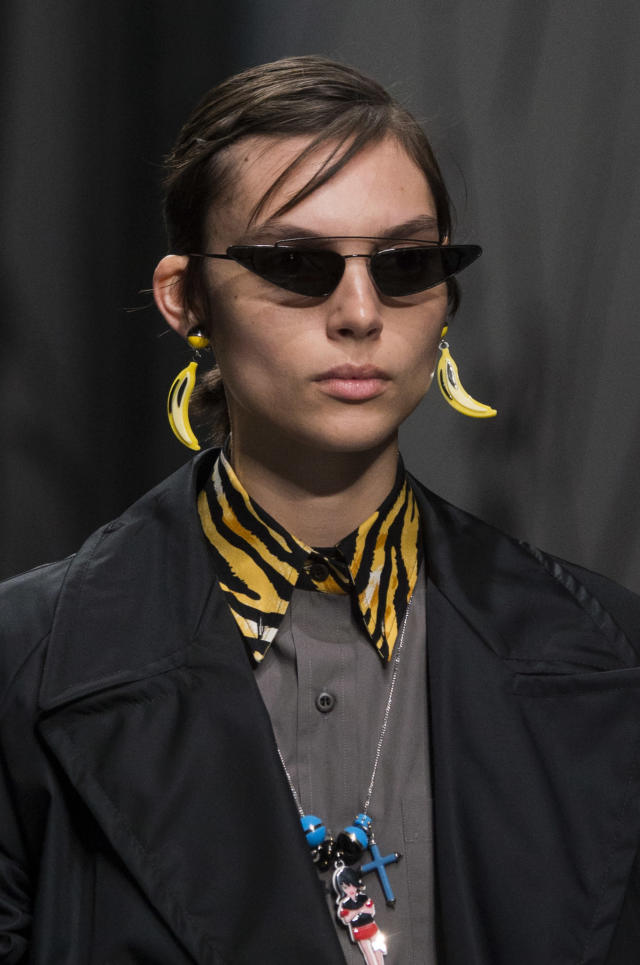 <p><i><em>Matrix</em>-style sunglasses from the SS18 Prada collection. (Photo: ImaxTree) </i></p>