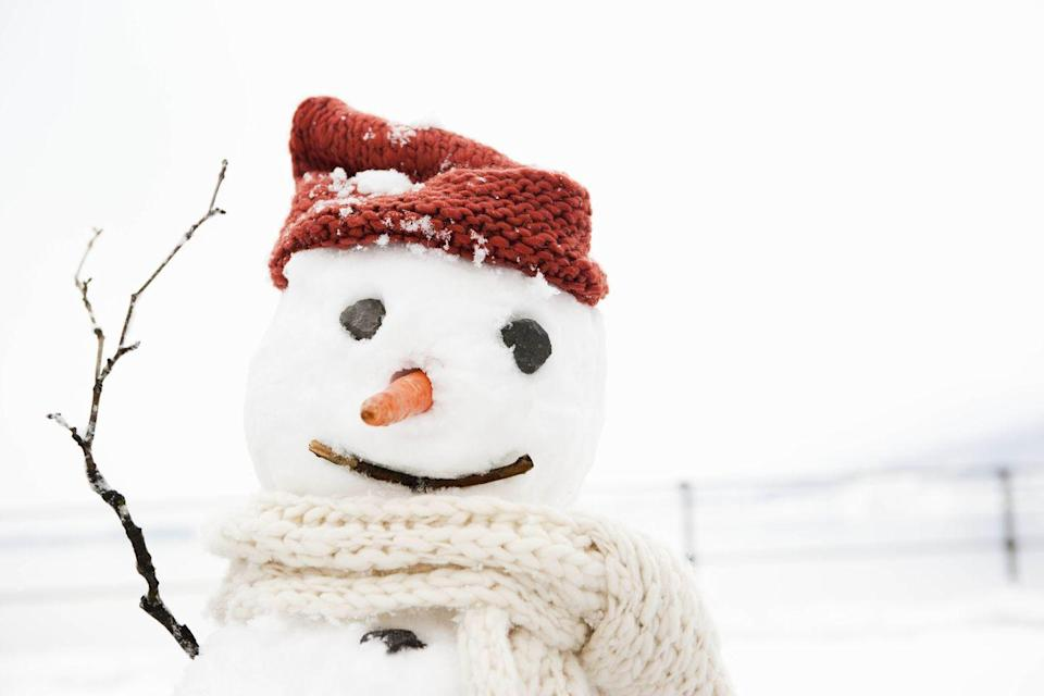 <p>Nothing beats embracing your inner kid, wandering out in a fresh blanket of snow, and getting creative with your snowman's ensemble. When you're done, snap a few photos of your creation and roll in the powder for some snow angels or have a friendly snowball fight.</p>