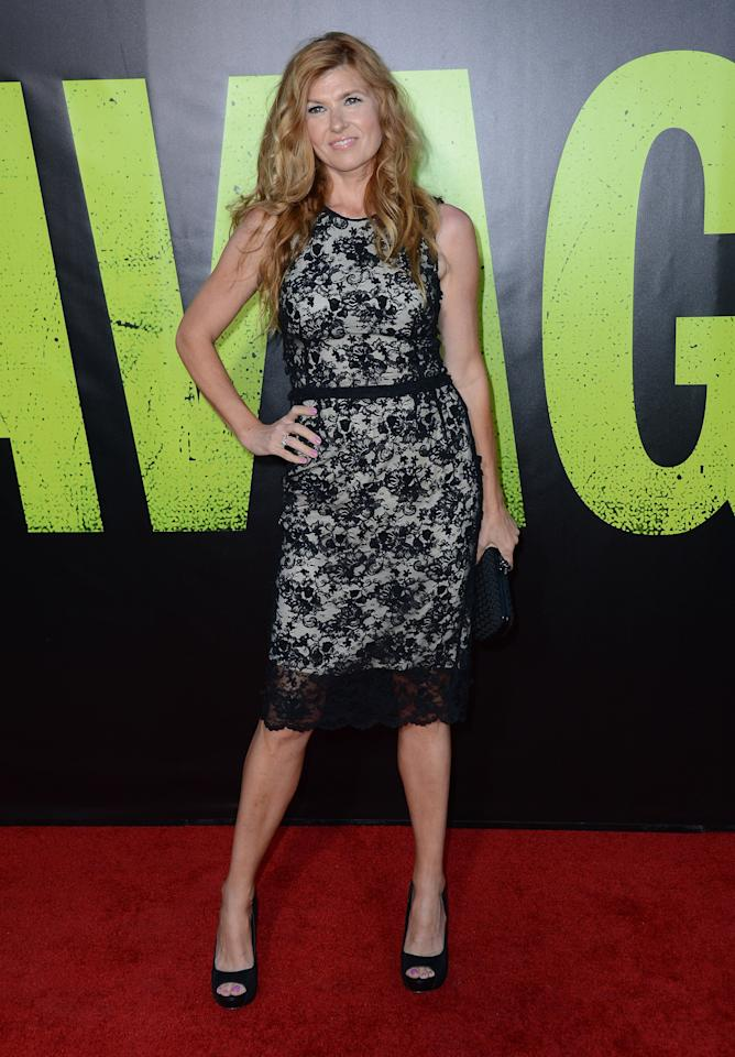 "LOS ANGELES, CA - JUNE 25:  Actress Connie Britton arrives at the premiere of Universal Pictures' ""Savages"" at Westwood Village on June 25, 2012 in Los Angeles, California.  (Photo by Michael Buckner/Getty Images)"