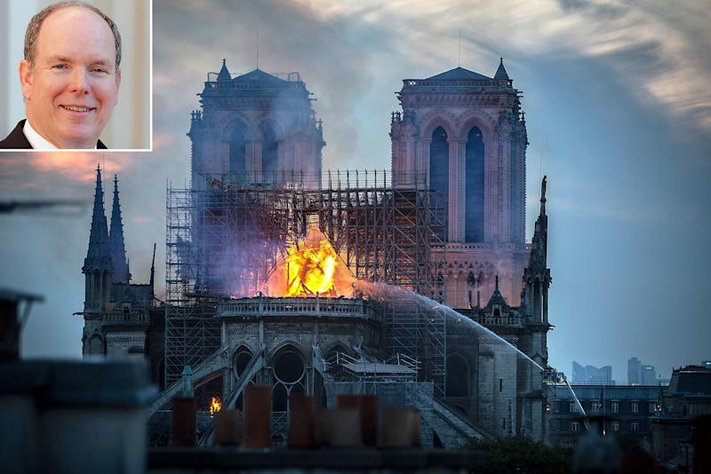Prince Albert Pledges Financial Aid in Rebuilding of Notre Dame