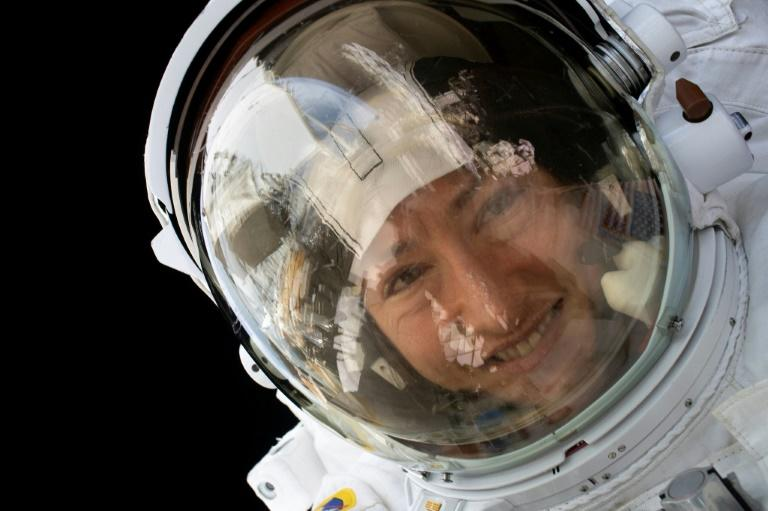 NASA astronaut Christina Koch is set to return to Earth after 328 days living and working aboard the International Space Station (AFP Photo/Handout)