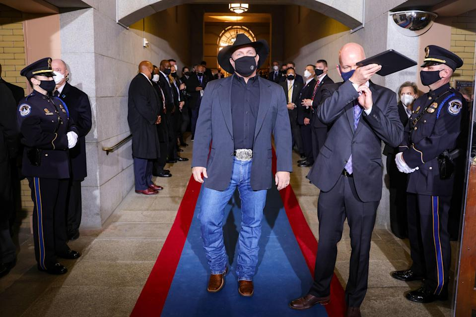 Garth Brooks at the Capitol for the inauguration, January 20, 2021.