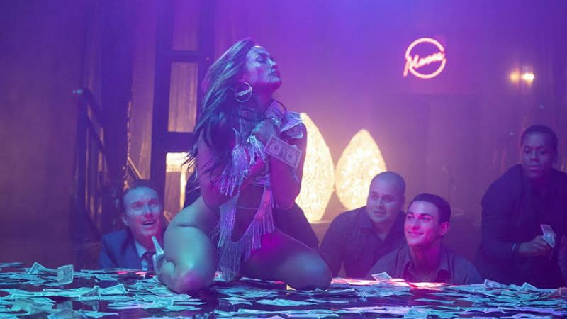 Jennifer Lopez portrayed a stripper in 'Hustlers'. (Credit: STX)