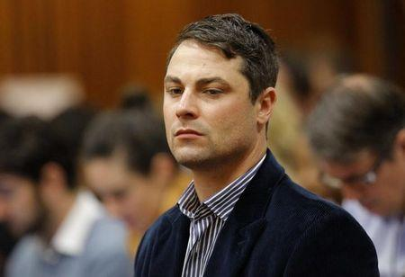 Carl Pistorius listens during the second day of the trial of his brother in Pretoria