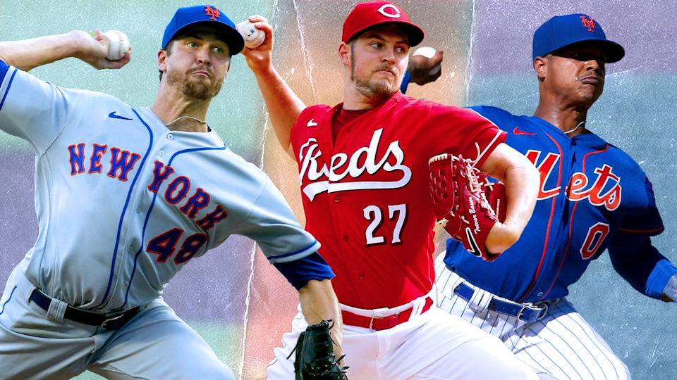 Jacob deGrom, Trevor Bauer, and Marcus Stroman TREATED ART