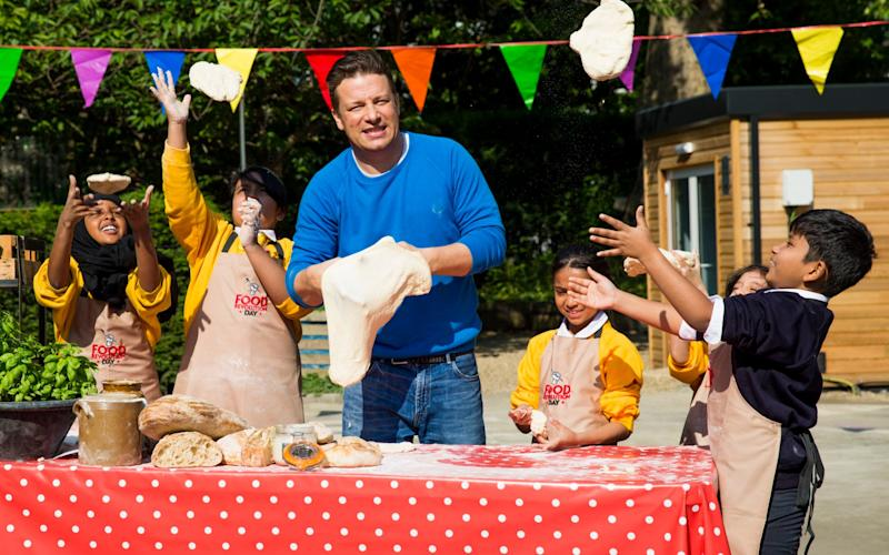 The Jamie Oliver Food Foundation has said that fundraising sales of sugary treats send out the wrong message about healthy eating  - Getty Images Europe