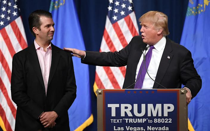 Father and son in 2016 before Trump made a name for himself on the campaign trail - Ethan Miller/Getty