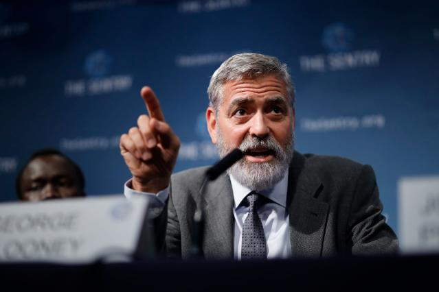 George Clooney takes part in a press conference in London to present a report on atrocities in South Sudan on September 19, 2019. (Photo: Tolga Akmen / AFP) (Photo credit should read TOLGA AKMEN/AFP via Getty Images)