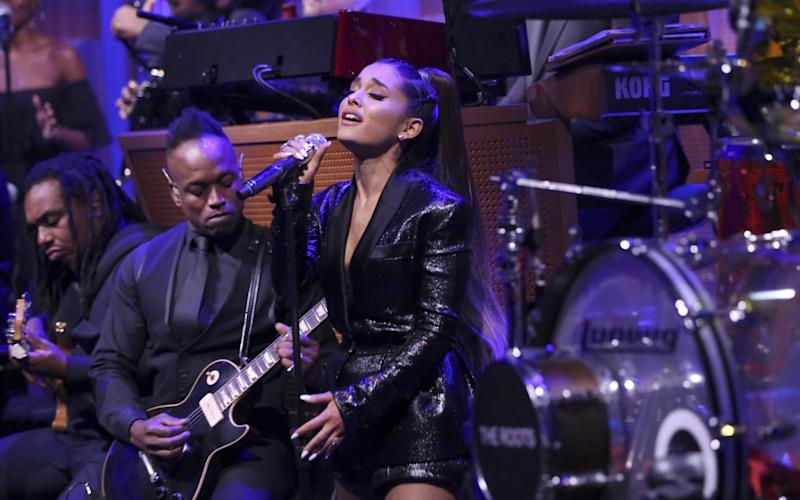 Ariana Grande performs on The Tonight Show with Jimmy Fallon - NBCUniversal