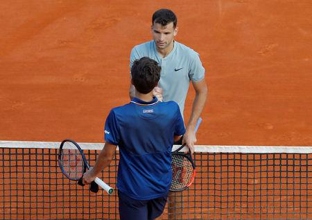 Tennis - ATP - Monte Carlo Masters - Monte-Carlo Country Club, Monte Carlo, Monaco - April 17, 2018   Bulgaria's Grigor Dimitrov after winning his second round match against Pierre-Hugues Herbert of France   REUTERS/Eric Gaillard