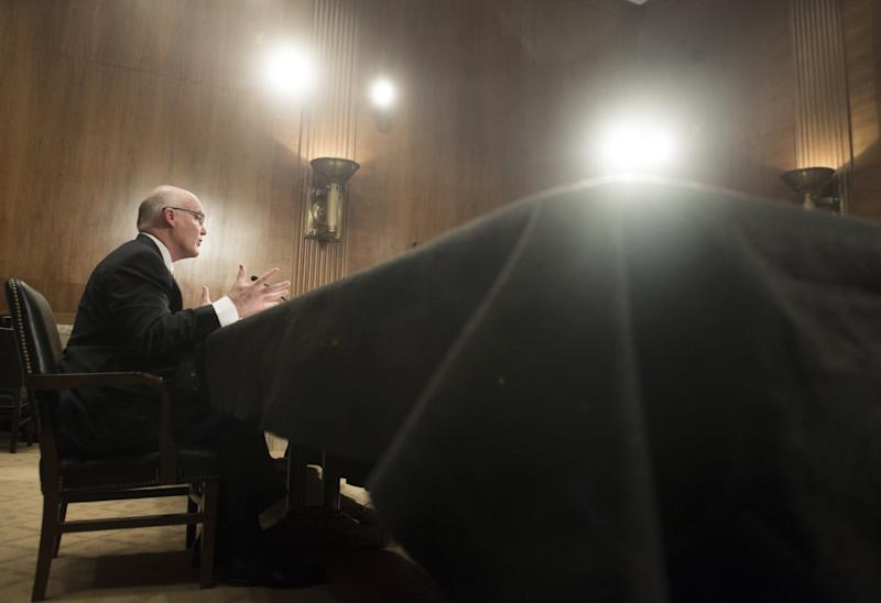 Joseph Clancy, director of the U.S. Secret Service, testifies during a Senate Appropriations Subcommittee hearing on Capitol Hill in on March 19, 2015.