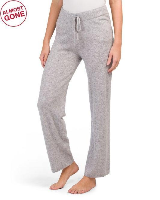 "<h2>Tahari Drawstring Cashmere Pants</h2><br>Off-price retailer T.J. Maxx never disappoints — we found a well-priced pair of gently flared joggers with a cool drawstring waist for a mere $99.<br><br><strong>Tahari</strong> Cashmere Drawstring Pants, $, available at <a href=""https://go.skimresources.com/?id=30283X879131&url=https%3A%2F%2Ftjmaxx.tjx.com%2Fstore%2Fjump%2Fproduct%2FCashmere-Drawstring-Pants%2F1000589252"" rel=""nofollow noopener"" target=""_blank"" data-ylk=""slk:T.J.Maxx"" class=""link rapid-noclick-resp"">T.J.Maxx</a>"