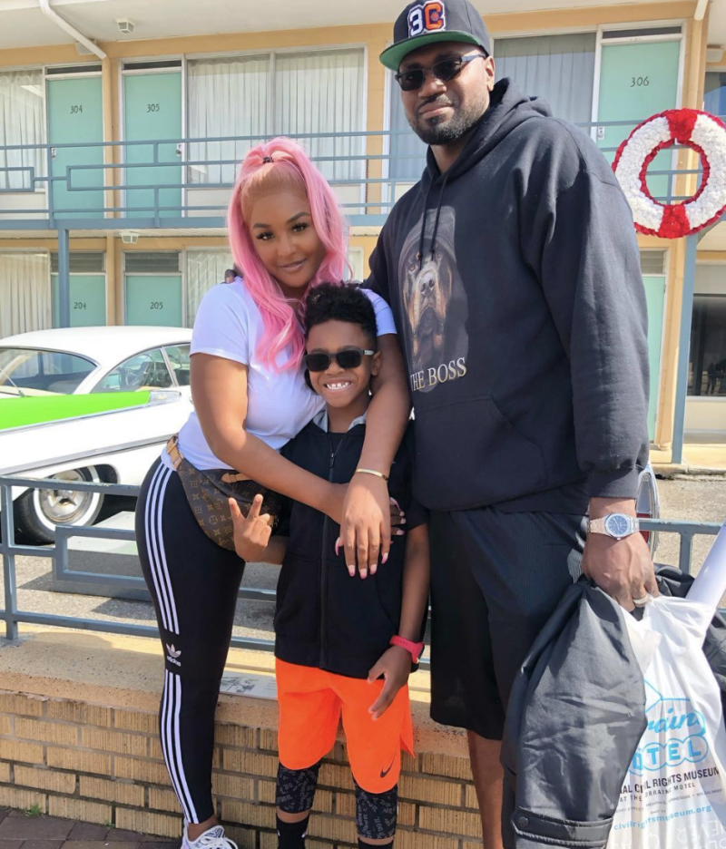 Brandi Maxiell poses with husband Jason and their son in March 2019. (Photo: Instagram)