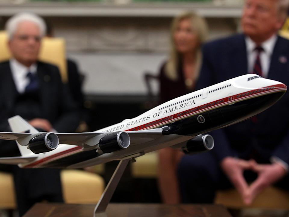 New Air Force One Model at the White House