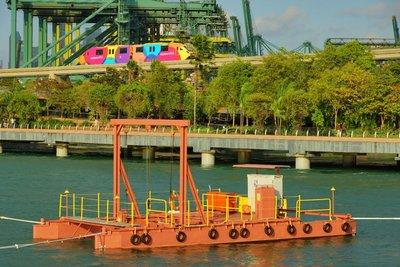Floating Integrated Renewable Energy Platform deployed near Sentosa Boardwalk, Singapore in February 2017