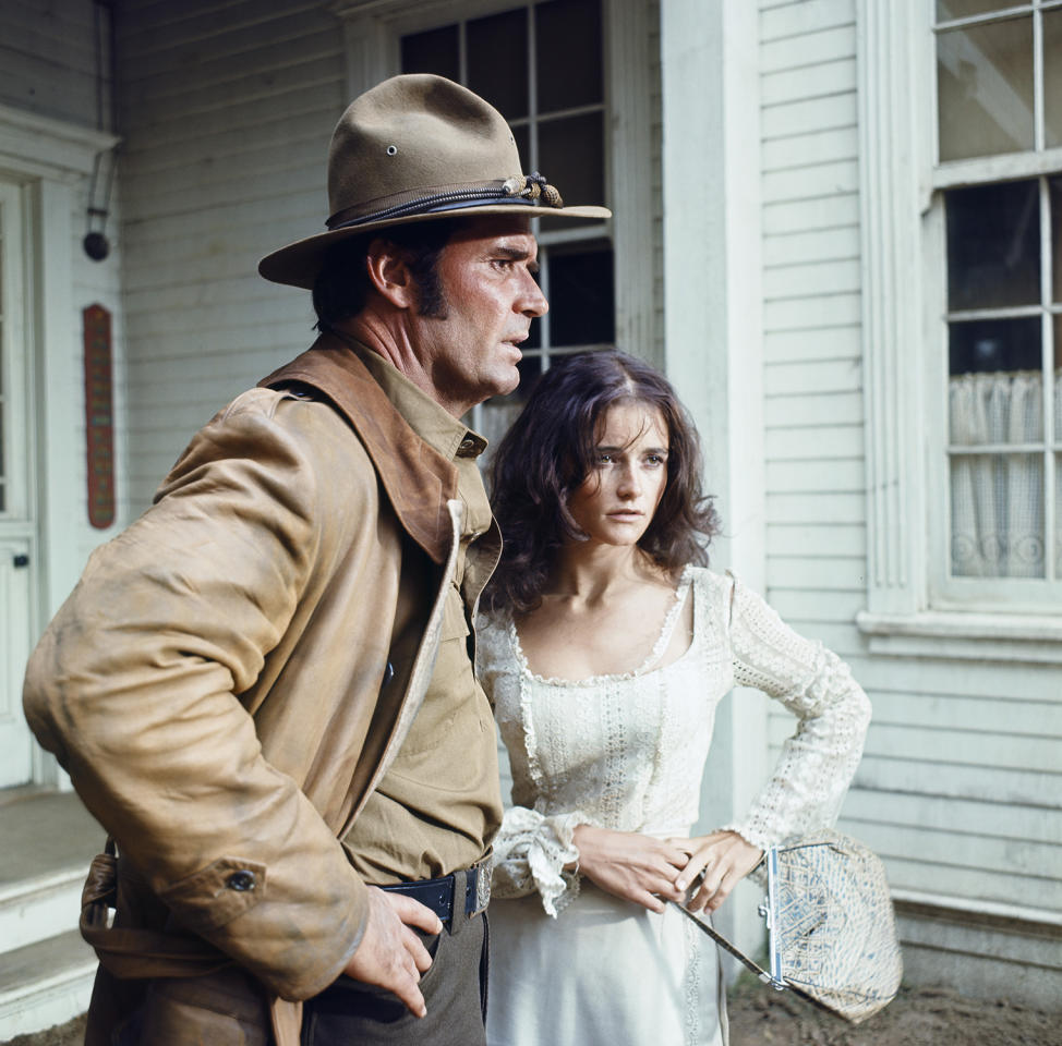 <p>After working for several years on smaller projects, Kidder was cast as the second lead in a TV western starring <i>Maverick</i> alum James Garner, left. Unfortunately, the show lasted only one season. (Photo: Gary Null/NBC/NBCU Photo Bank via Getty Images) </p>
