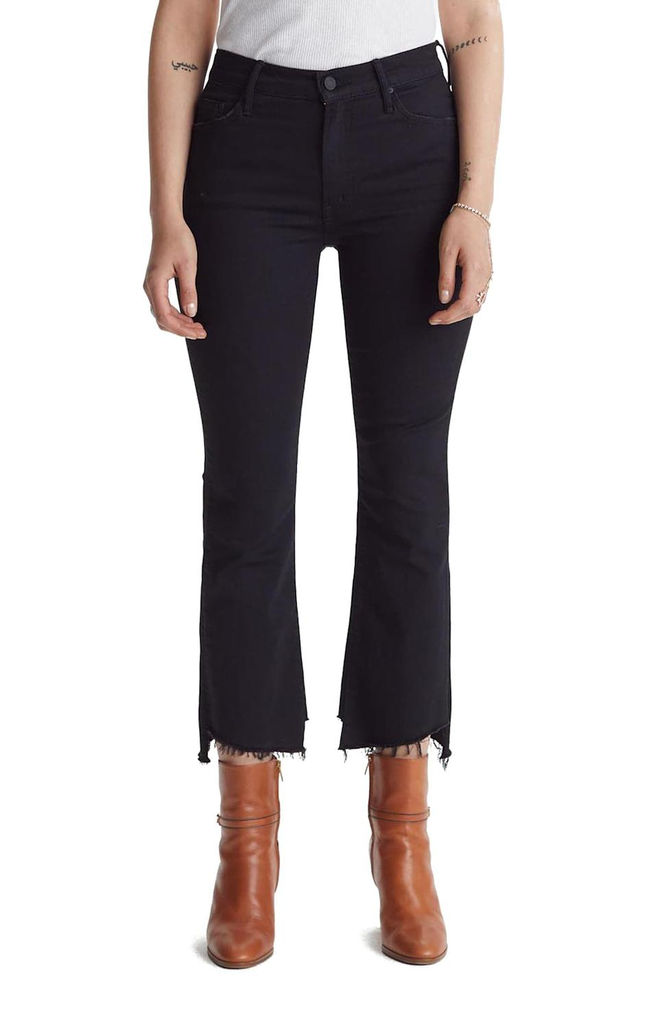 <p><span>Mother The Insider Two Step Fray Hem Crop Jeans</span> ($150, originally $228)</p>