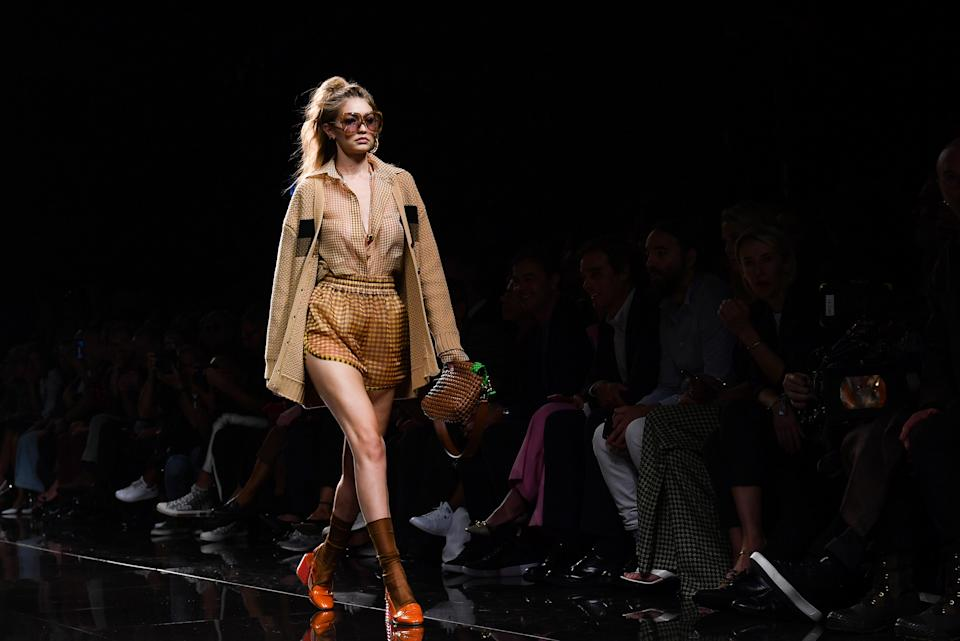 Gigi Hadid walks the runway at the Fendi show during the Milan Fashion Week Spring/Summer 2020. [Photo: Getty]