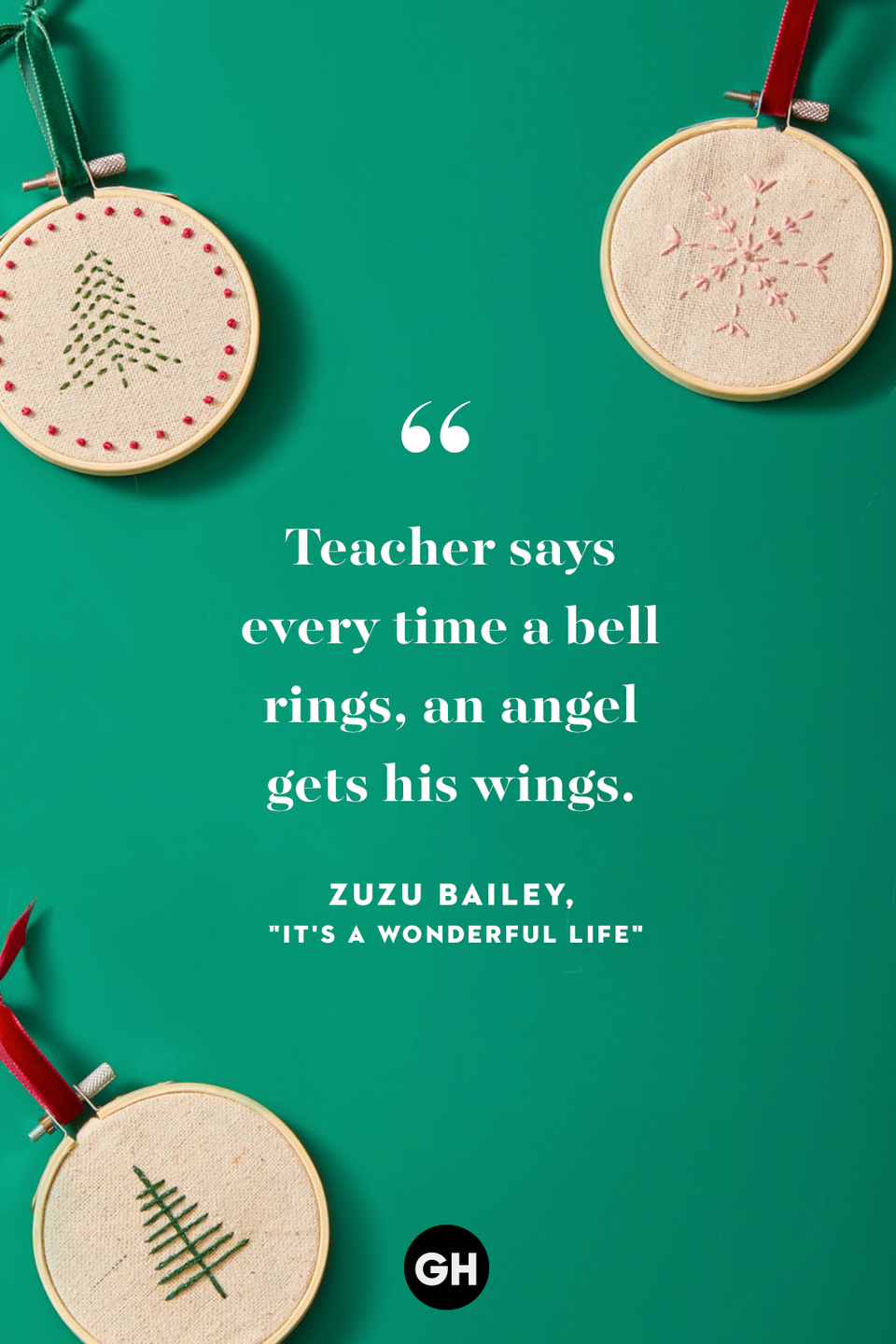 <p>Teacher says every time a bell rings, an angel gets his wings. </p>