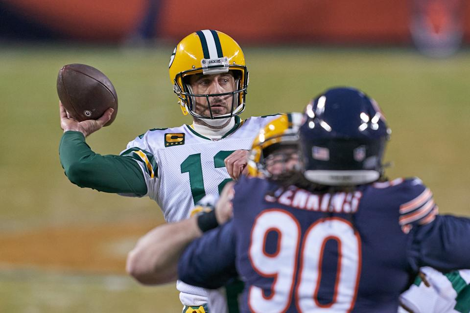 Green Bay Packers quarterback Aaron Rodgers (12) had a big year for bettors. (Photo by Robin Alam/Icon Sportswire via Getty Images)