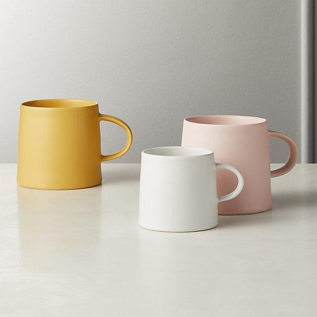<p>Bring some color to your morning routine with this bright yellow <span>Valley Matte Mug</span> ($5).</p>