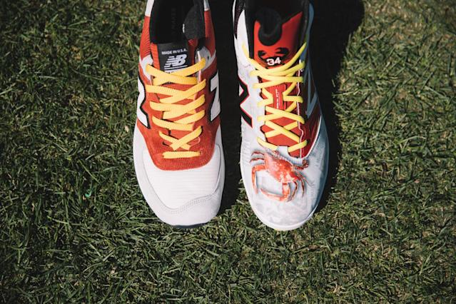 Big Papi's Baltimore-inspired cleats have crabs on 'em. (New Balance)