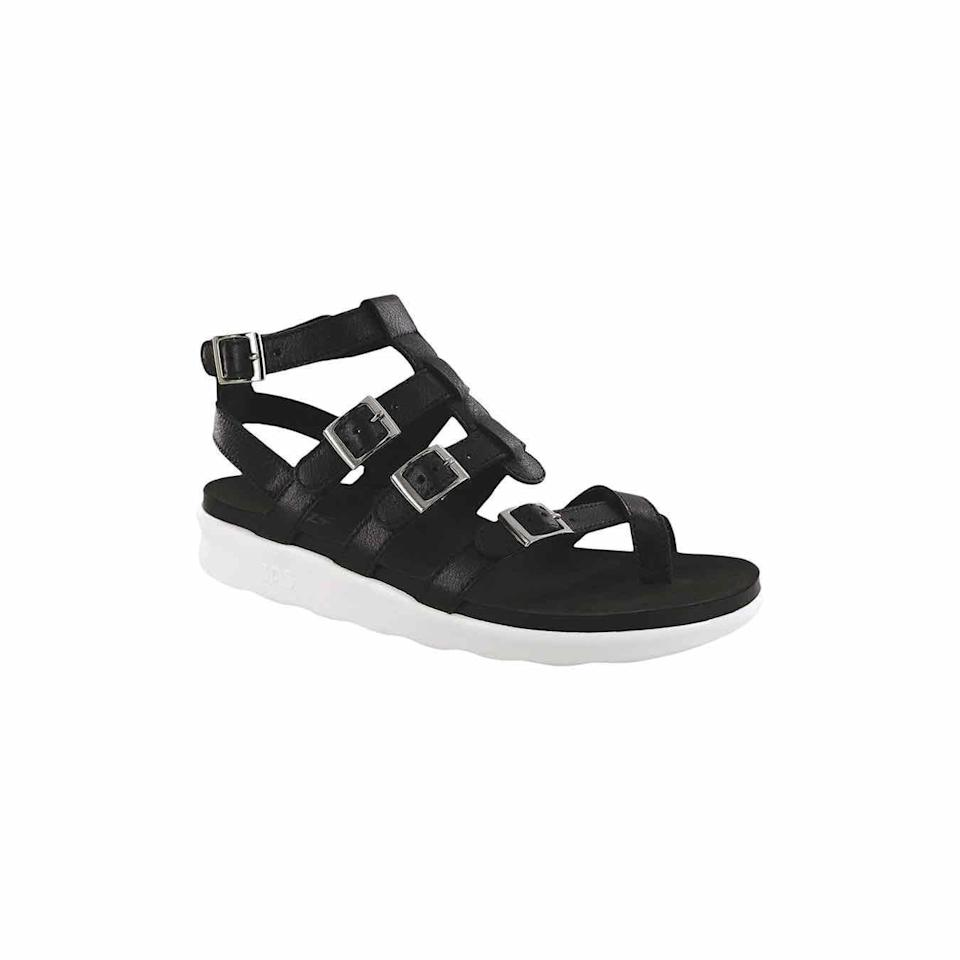 """<p><strong>SAS</strong></p><p>zappos.com</p><p><strong>$164.95</strong></p><p><a href=""""https://go.redirectingat.com?id=74968X1596630&url=https%3A%2F%2Fwww.zappos.com%2Fp%2Fsas-aria-chalk%2Fproduct%2F9359098&sref=https%3A%2F%2Fwww.oprahdaily.com%2Fstyle%2Fg25893553%2Fbest-sandals-for-women%2F"""" rel=""""nofollow noopener"""" target=""""_blank"""" data-ylk=""""slk:sHOP NOW"""" class=""""link rapid-noclick-resp"""">sHOP NOW</a></p><p>Gladiator sandals never go out of style; this utilitarian version has a sturdy, cushioned rubber outsole so you don't have to worry about wear and tear.</p>"""