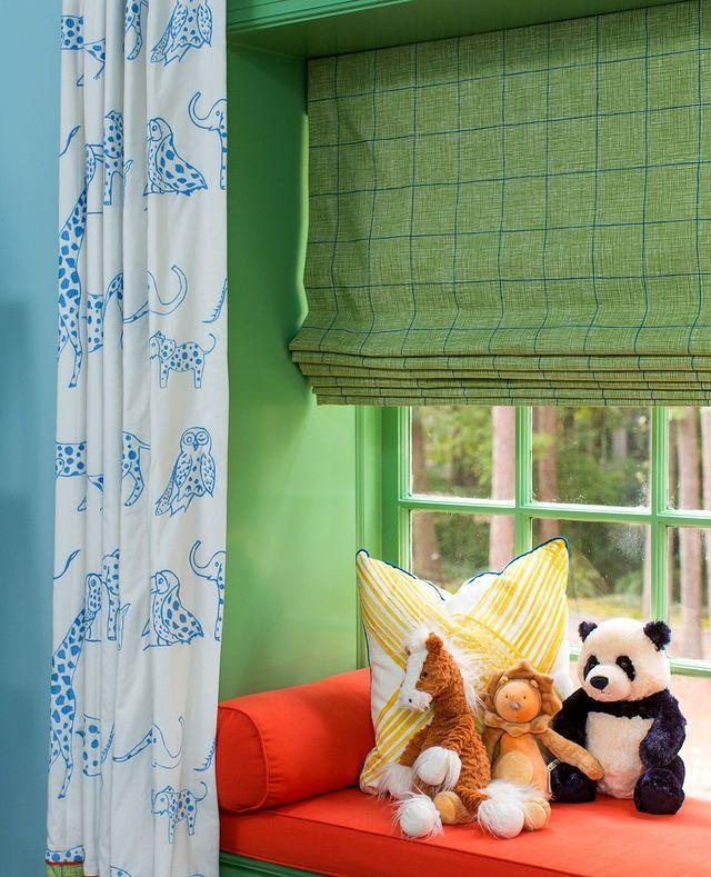 """<p>Unexpected pattern play makes this window seat a joyful spot. </p><p><a href=""""https://www.instagram.com/p/CMdCUFxD5ln/"""" rel=""""nofollow noopener"""" target=""""_blank"""" data-ylk=""""slk:See the original post on Instagram"""" class=""""link rapid-noclick-resp"""">See the original post on Instagram</a></p>"""