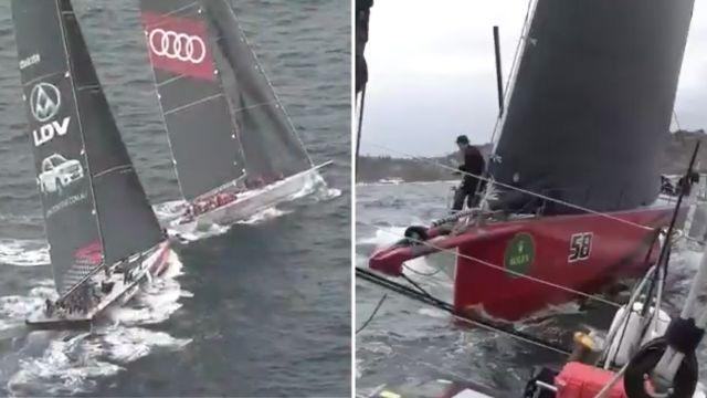 What a crazy moment! Image: Channel 7