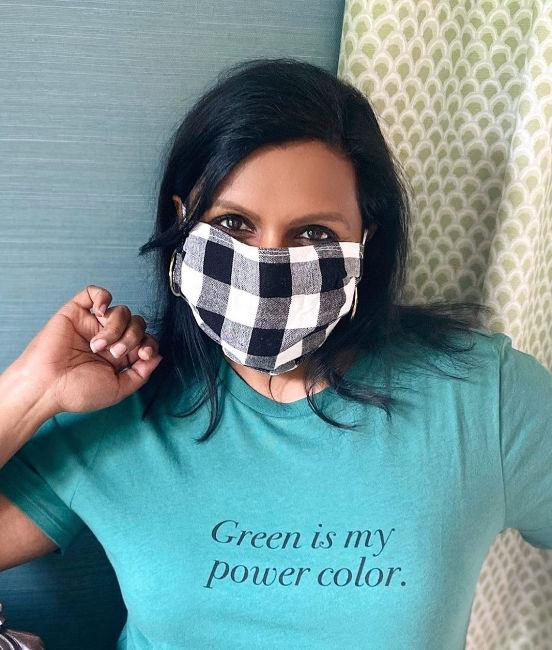 mindy kaling face mask covering