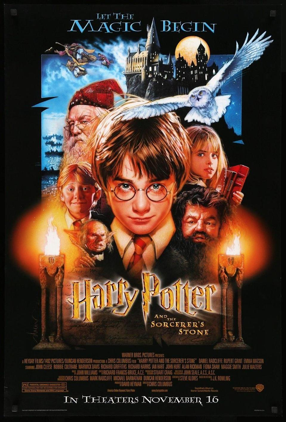 <p>It's hard to imagine a world without Harry Potter Weekend on TV. J.K. Rowling's debut, Harry Potter and the Sorcerer's Stone, the fantastical world she created hit the big screen on November 14, 2001 with unknowns Daniel Radcliffe and Emma Watson who were just 11 and 10 years-old at the time. After 8 movies in total, the tale of Harry and his friends attending Hogwarts for the first time as naive wizards will forever remain a classic. </p>
