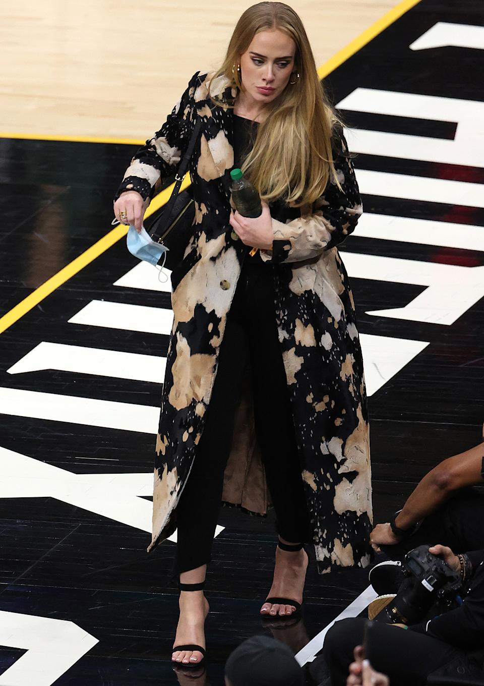 Adele at the NBA finals